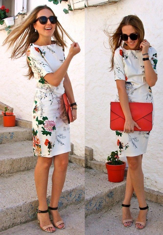 0ea3e044 ZARA WOMAN FLORAL PRINT DRESS WHITE FLOWER WIGGLE ORIENTAL Bloggers Fav # ZARA #StretchBodycon
