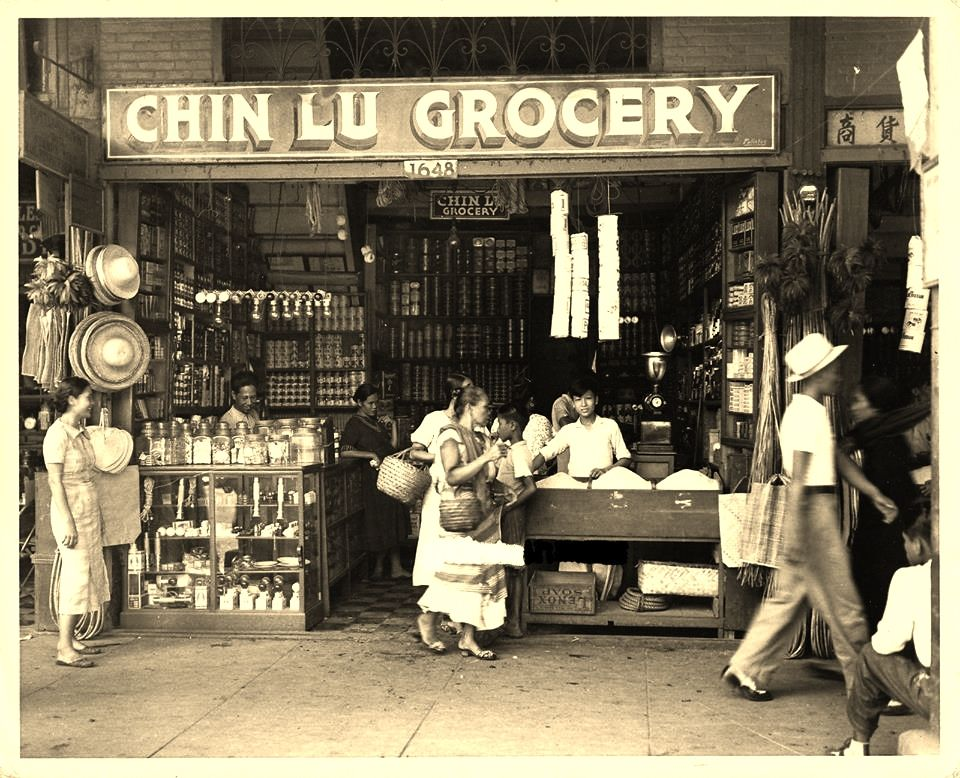1950s Chin Lu Grocery Philippines culture, Manila