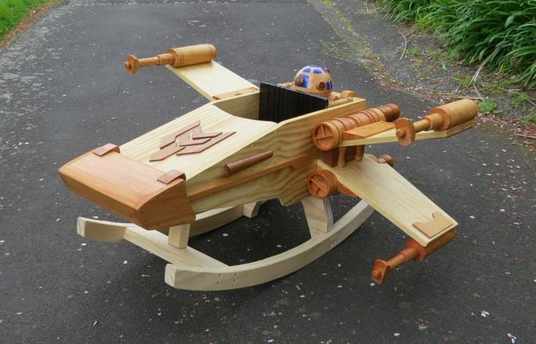 DIY #StarWars X-wing rocker rocks the younglings | via @CNET