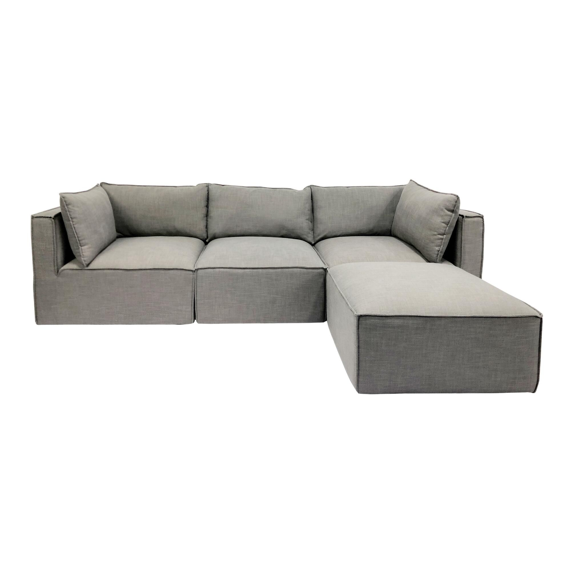 Gray Tyson 4 Piece L Modular Sectional Sofa By World Market Modular Sectional Sofa Modular Sectional Sectional