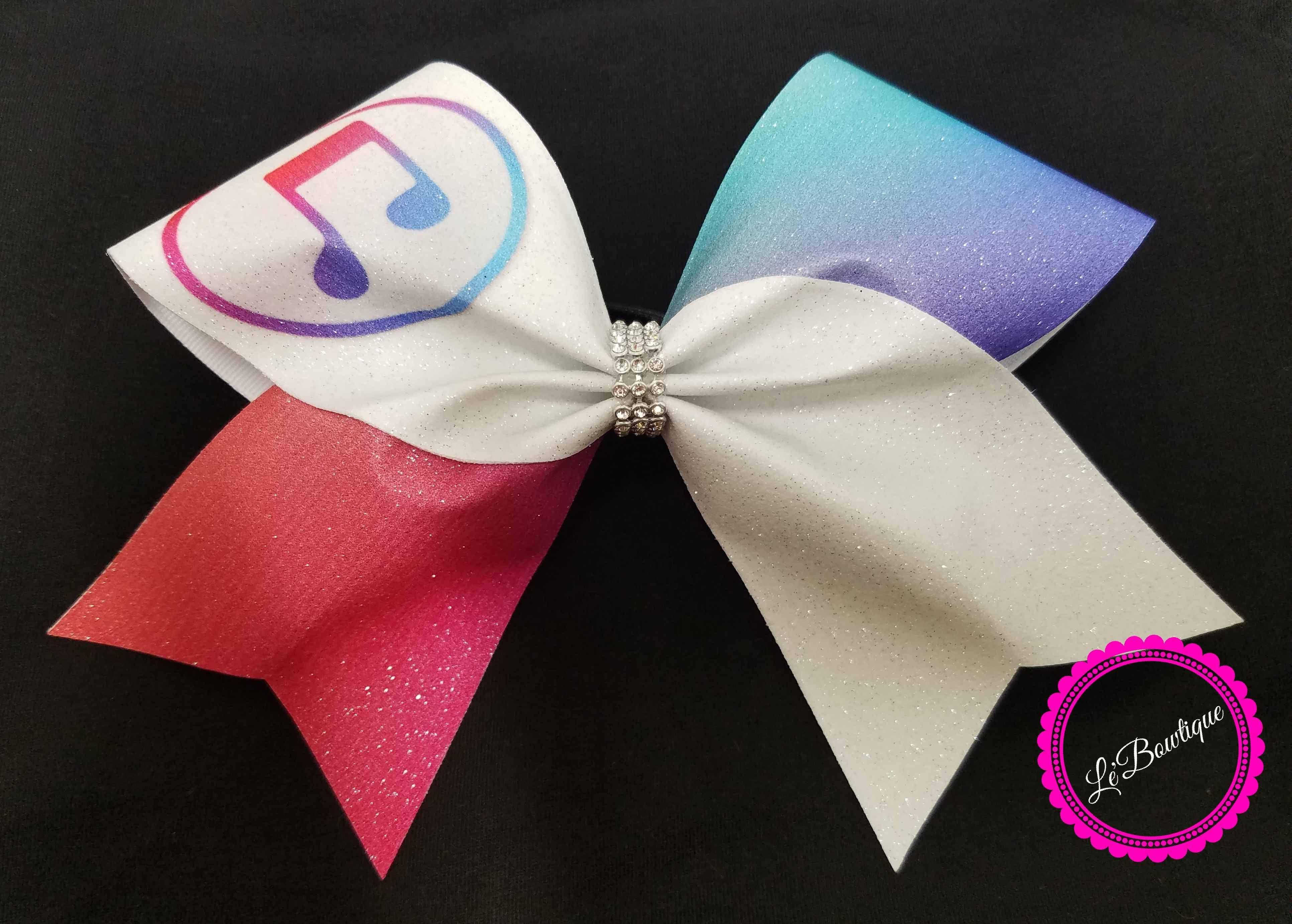 9c519cf8bbfa iTunes Glitter Cheer Bow in 2019 | love | Cheer bows, Bows, Cheer