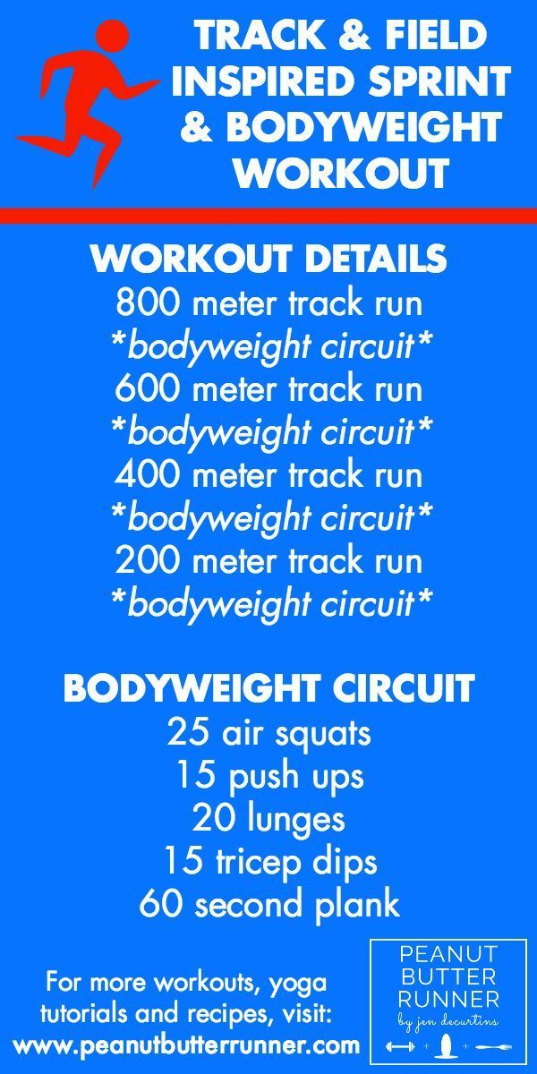 Go For The Gold Track Field Inspired Running Bodyweight Track