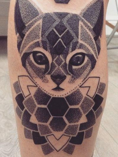 Dotwork Cat Mandala By Lauren Marie Sutton At Redwood Tattoo