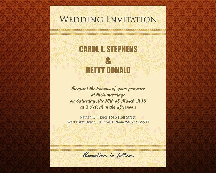 Faux Gold Wedding Invitation Template Free Download Free Wedding - free download invitation templates