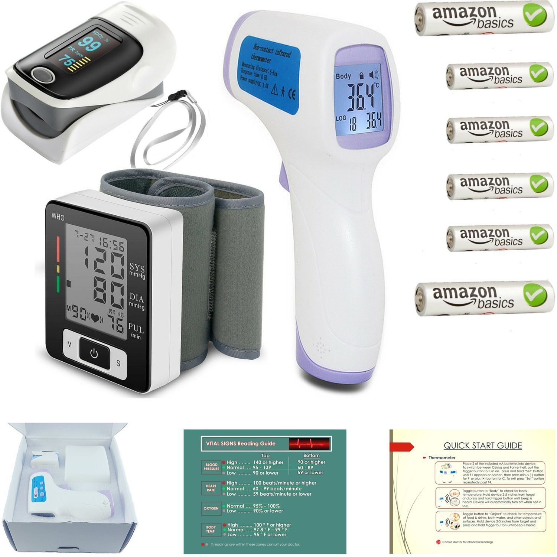 Pulse Oximeter Fingertip Blood Pressure Monitor Infrared