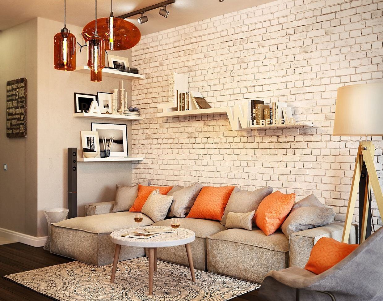 White Brick Brick Wall Living Room White Brick Wall Living Room Brick Living Room