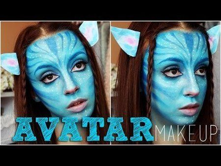 halloween avatar makeup tutorial nataliebeautyyy howto