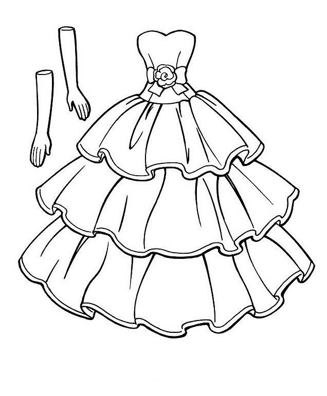Clothing Coloring pages 45 Barbie malvorlagen Hochzeit