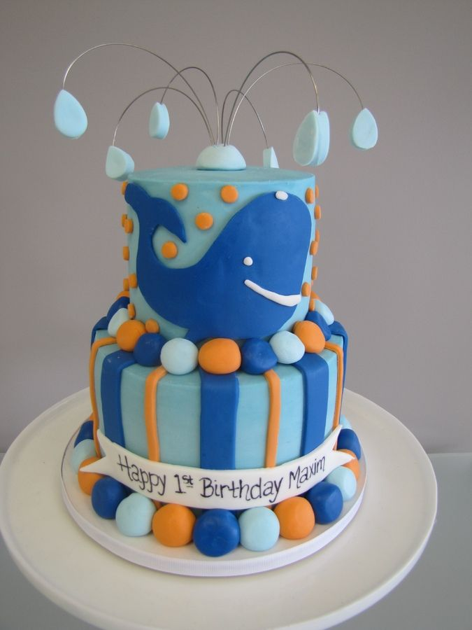 whale birthday cake Childrens Birthday Cakes Birthday parties