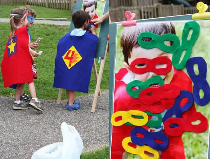 superhero birthday party games for 4 year olds Ethan Evan games
