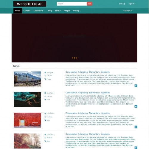 Bloha blogs bootstrap 2 column web template templates bloha blogs bootstrap 2 column web template pronofoot35fo Images