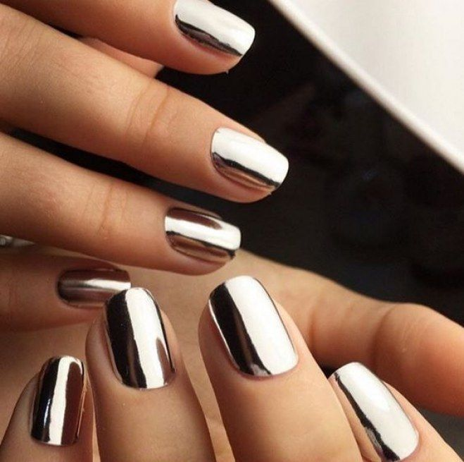 Pin by Елена on Красивые ногти in 2020 | Metallic nails ...