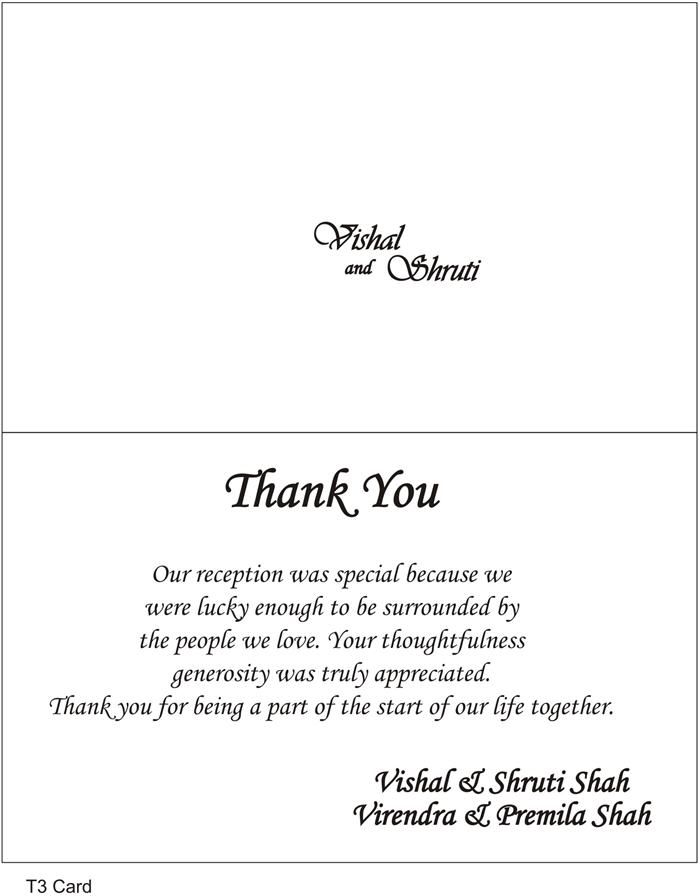 Thank You Cards Wedding Wording