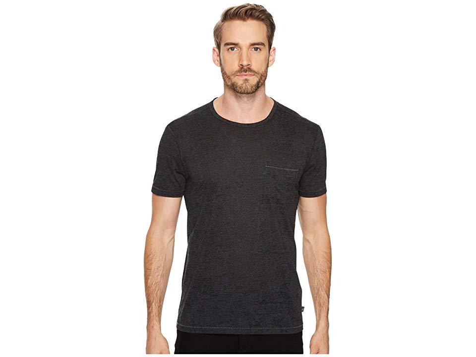 John Varvatos Collection Men/'s Long Sleeve Pima Cotton Crew Tee Shirt Black