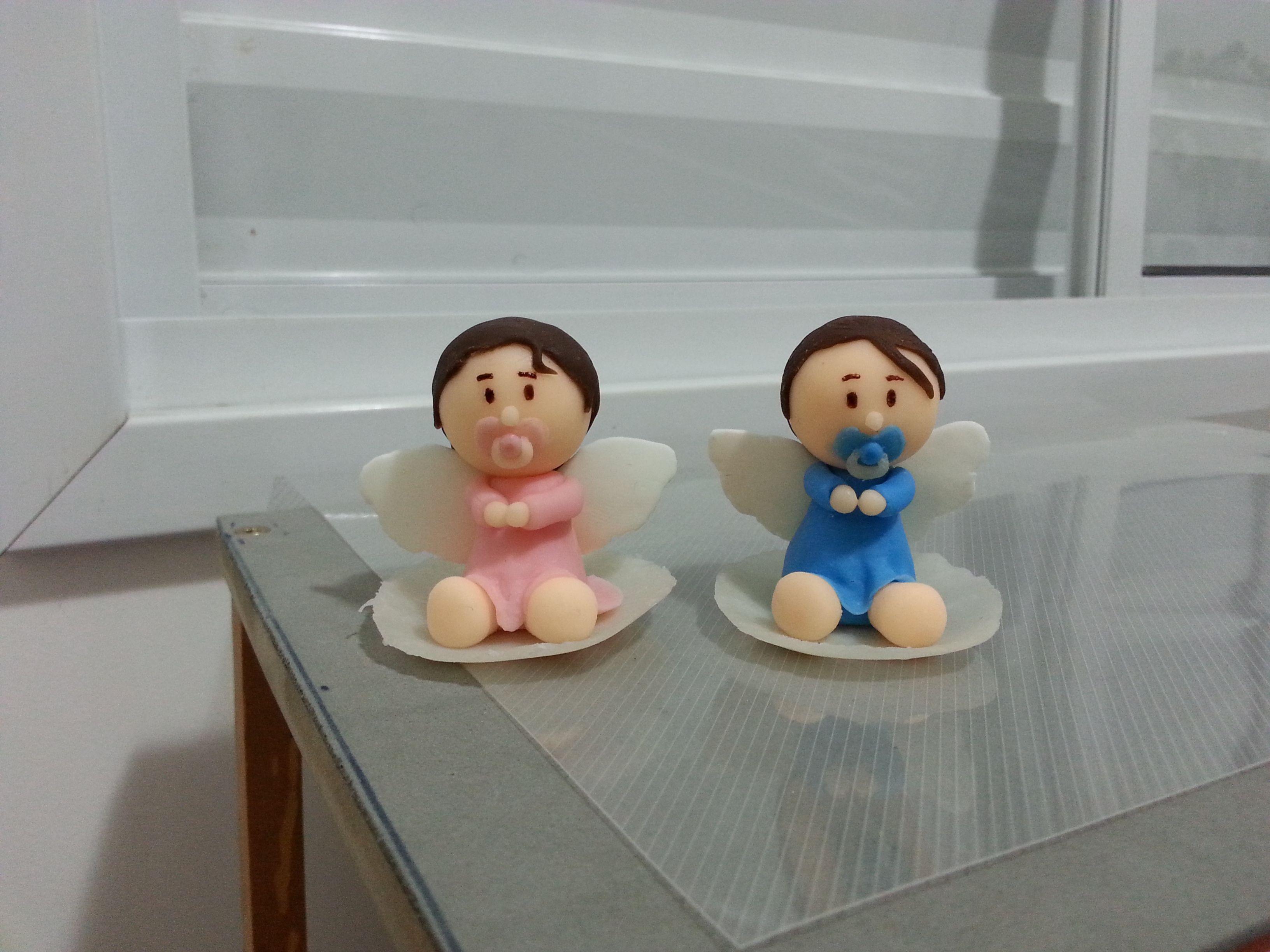 Lembrança - Batizado_bebê com asas anjo