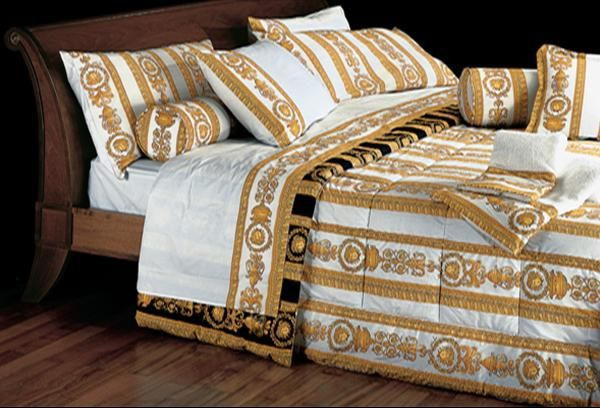 Versace Bed Set White Gold Home Collection Gold Duvet Versace