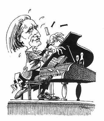 Franz Liszt Musik Karikatur Satire