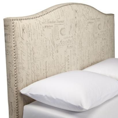 Beds Headboards Script Nailhead Upholstered Headboard Full Queen Target Camelback With Trim French
