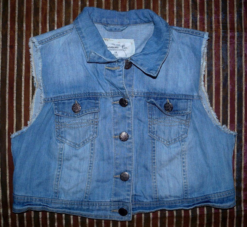 Oryginalna Kurtka Bez Rekawow Jeans Wiosna 42 44 Denim Vest Jackets Fashion