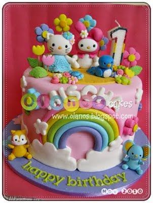 Hello Kitty and My Melody Birthday Cake TORTAS Pinterest