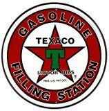 Texaco Filling Station Tin Sign