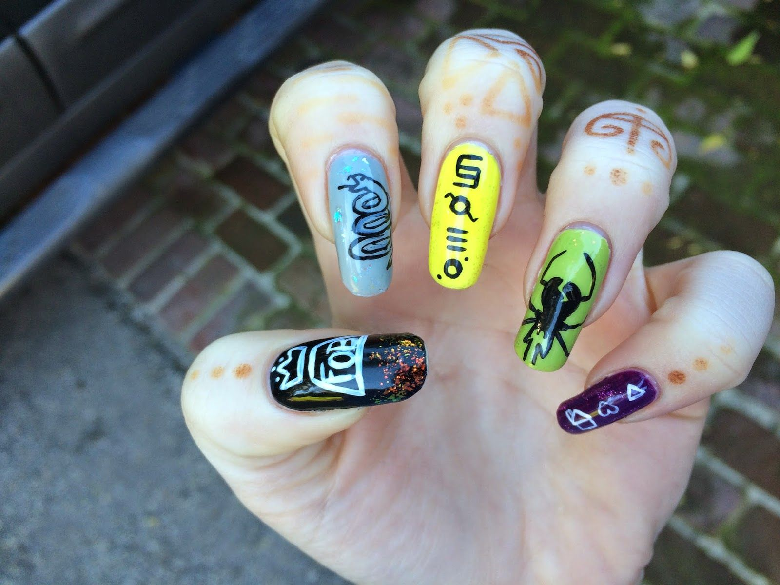 band nail art - Google Search | Nails | Pinterest | Art google