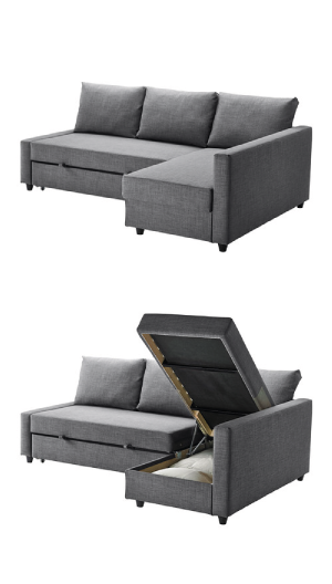 3-Seat Sleeper Sectional | Sleeper sectional, Sleeper sofas and ...
