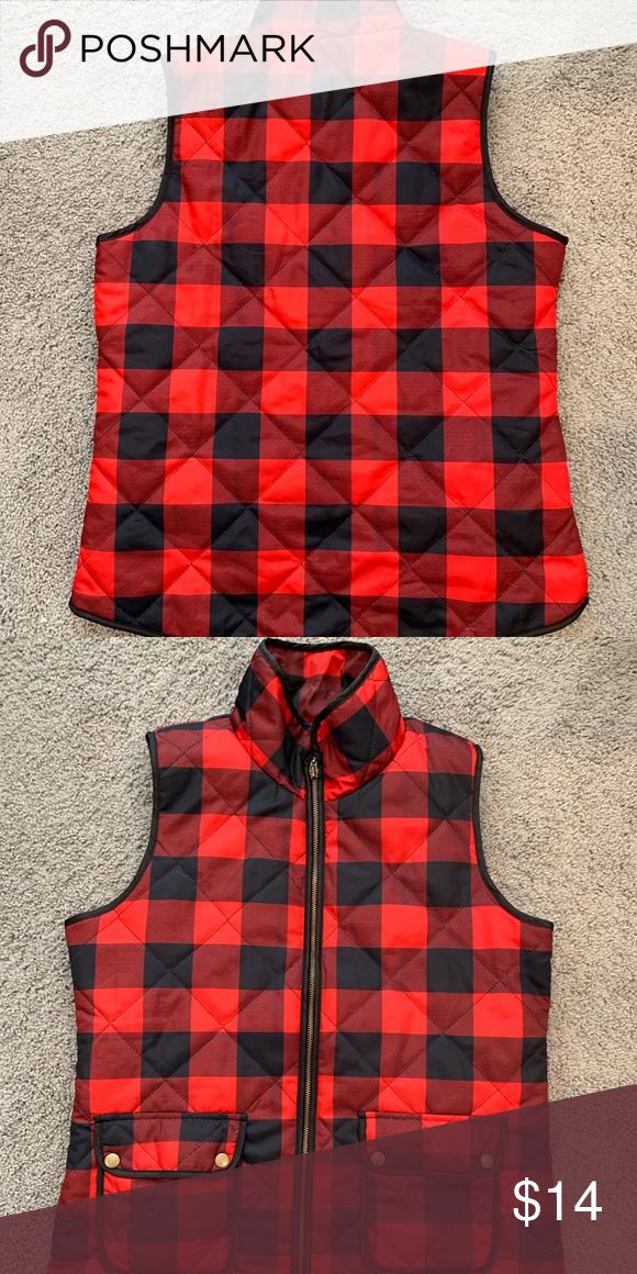efbe3ea5cb9 Buffalo plaid vest Like new red and black buffalo plaid vest Tops ...