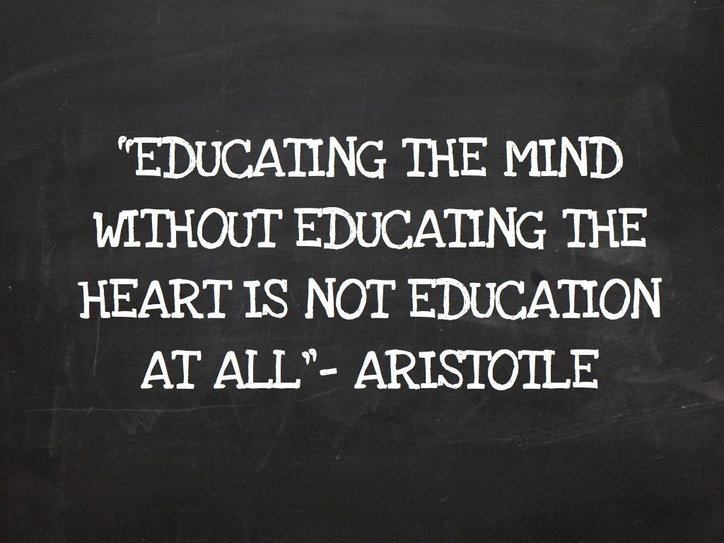 educating the mind out educating the heart is not education at