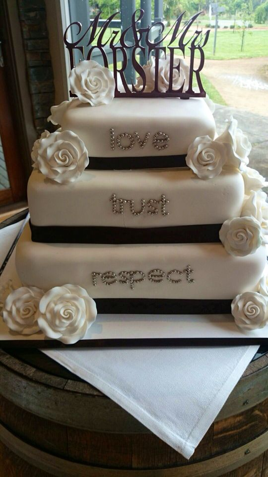 Make your wedding cake meaningful for you both.