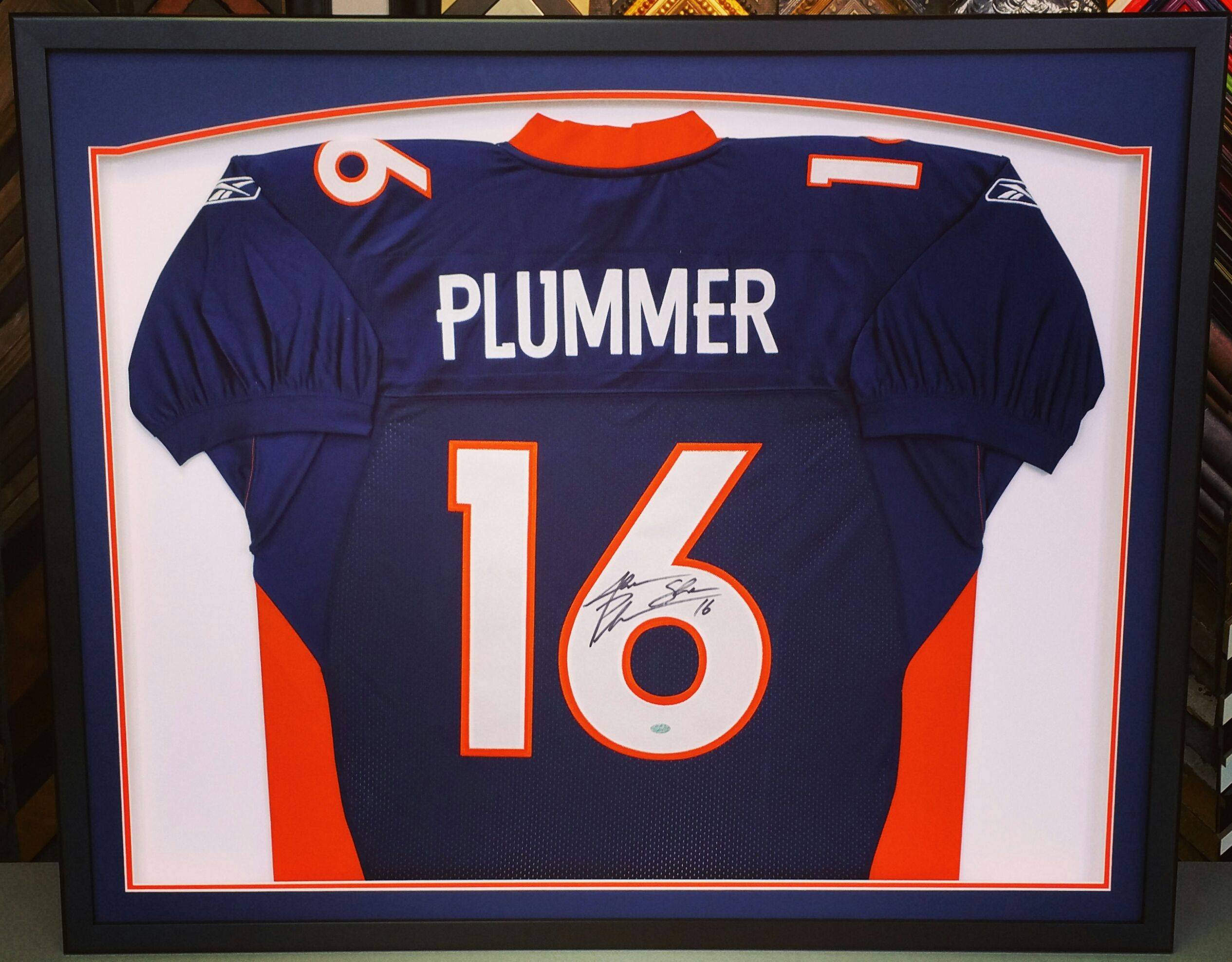Jake The Snake Plummer Custom Framed Denverbroncos Jersey Come See Fastframe Of