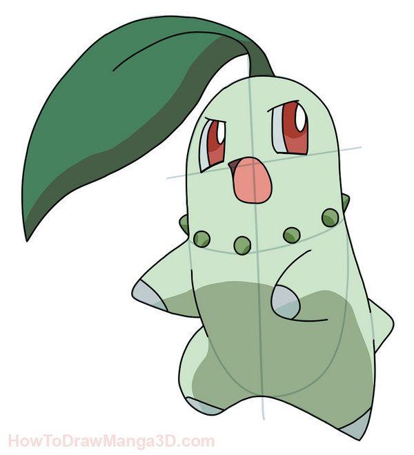 How to draw chikorita pokemon step by step art to make - Apprendre a dessiner pokemon ...
