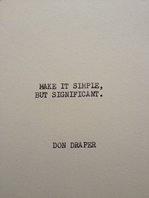 Underwood Typewriter Quote Card The Don Draper Mad Men 35 X 5
