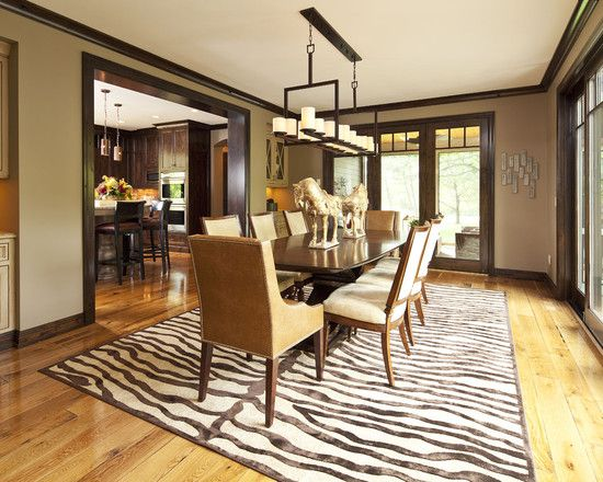 I 39 m a sucker for animal print but love the wall color for Wall colors with dark wood trim