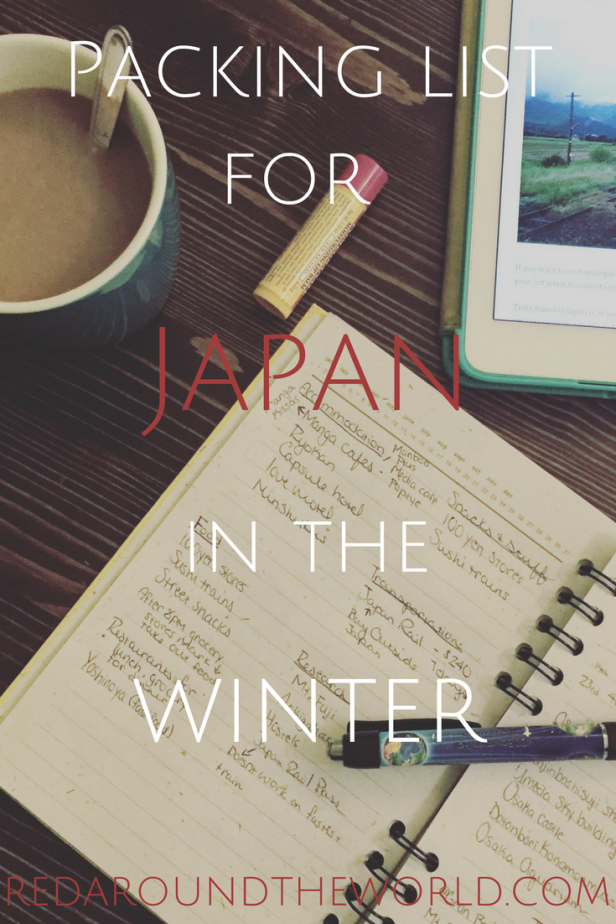 Awesome packing list for Japan in winter!  Love it!