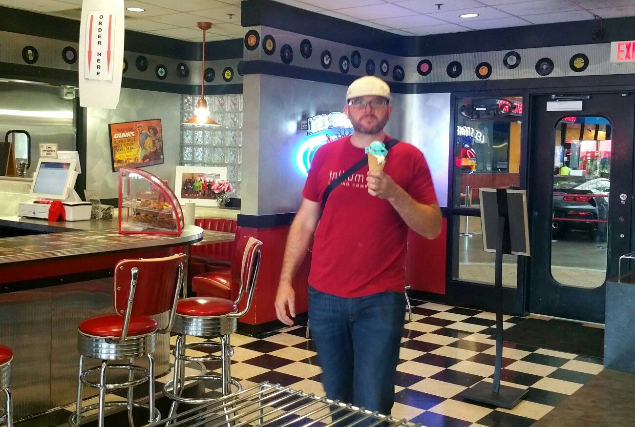 Stopped For An Ice Cream At The Corvette Cafe Creamy Local Flavor Yum The Corvette Museum Is In Bowling Gre Road Trip Food Bowling Green Kentucky Best Beer