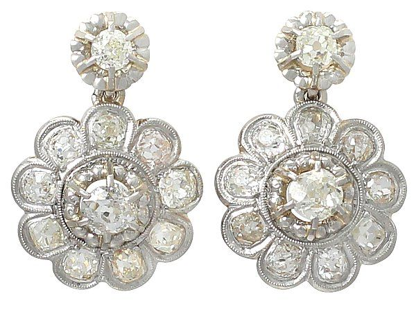 Antique Diamond Cer Earrings View Our Full Collection Of Drop Over At Http Acsilver Co Uk Pc C288 Htm