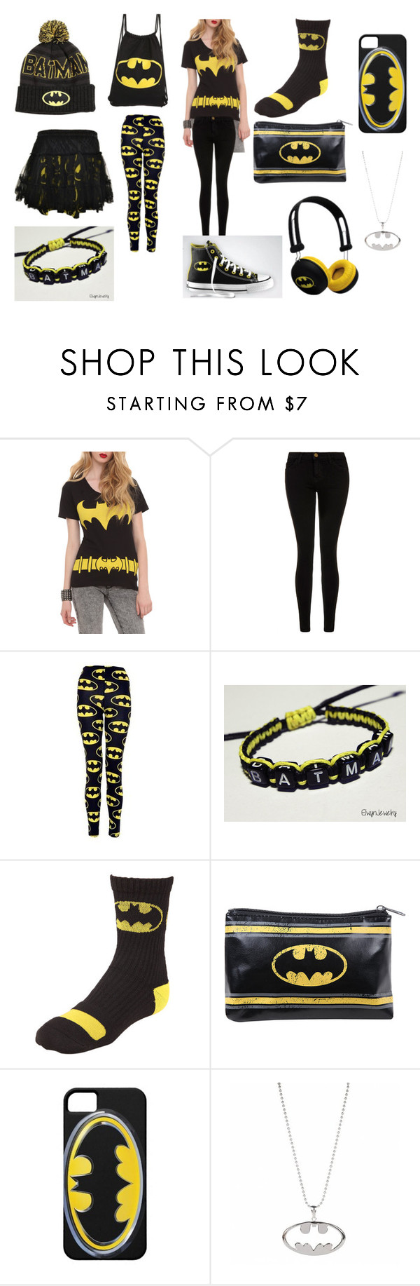batgirl by alexalivar on Polyvore featuring Current/Elliott, CO, Converse, women's clothing, women's fashion, women, female, woman, misses and juniors