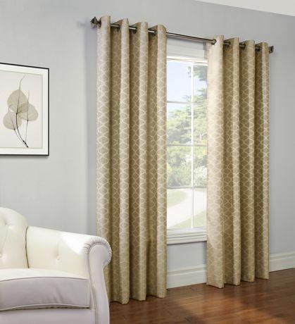 Habitat Gladys Light Filtering Jacquard Grommet Window Curtain