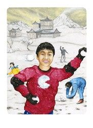 5 of Wands from the Snowland Tarot (art by Ron Boyer) http://SnowlandTarot.com