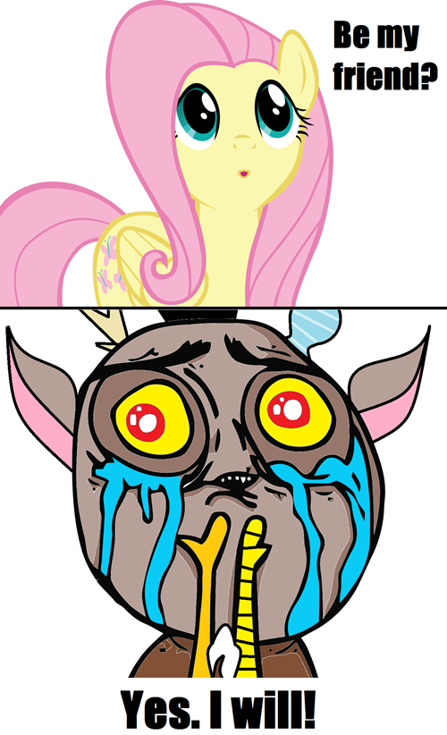#219385 - cute, discord, fluttershy, okay, rage face, safe ...