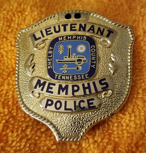 Lieutenant Memphis Police Shelby County Tennessee Memphis Police Police Badge Police