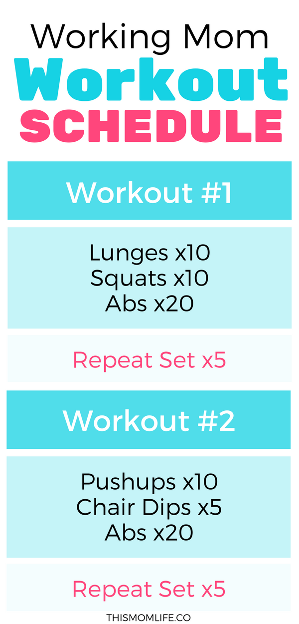Working Mom Exercise Routine That Can Be Completed In 20 Minutes Perfect For Busy Moms Balancing Work And H Workout Schedule Mom Workout Schedule Working Moms