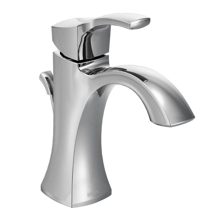 Moen Voss Chrome 1 Handle Single Hole 4 In Centerset Watersense Bathroom Sink Faucet With Drain Lowes Com Bathroom Faucets Chrome High Arc Bathroom Faucet Bathroom Faucets