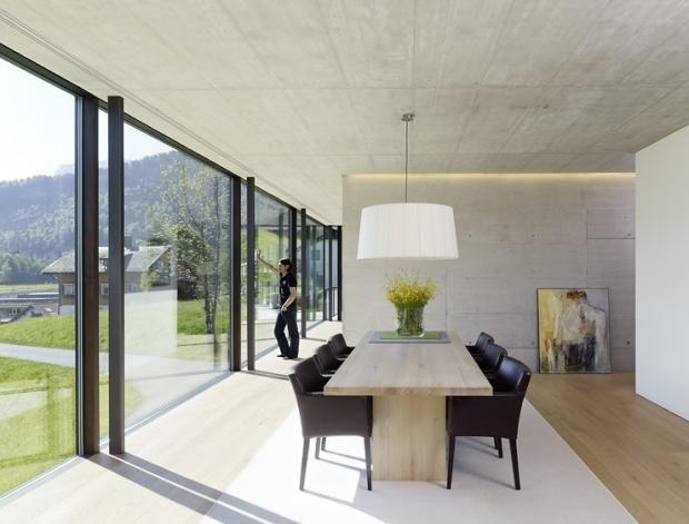 Architektur raum privathäuser haus huber maisch casas por dentro pinterest modern interiors architecture and concrete