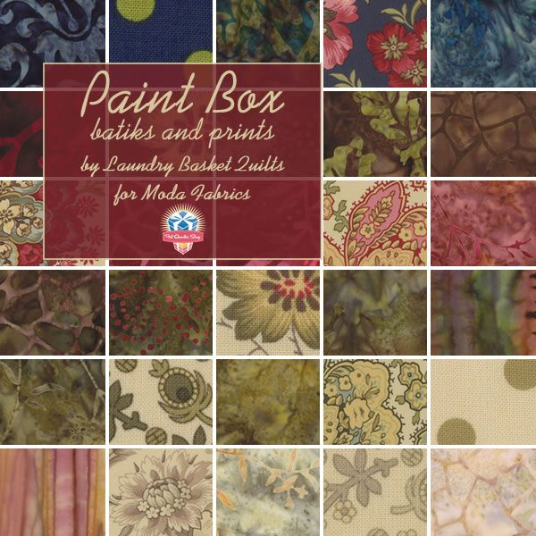 Elegant Mixture Of Prints And Batiks In Laundry Basket Quilts