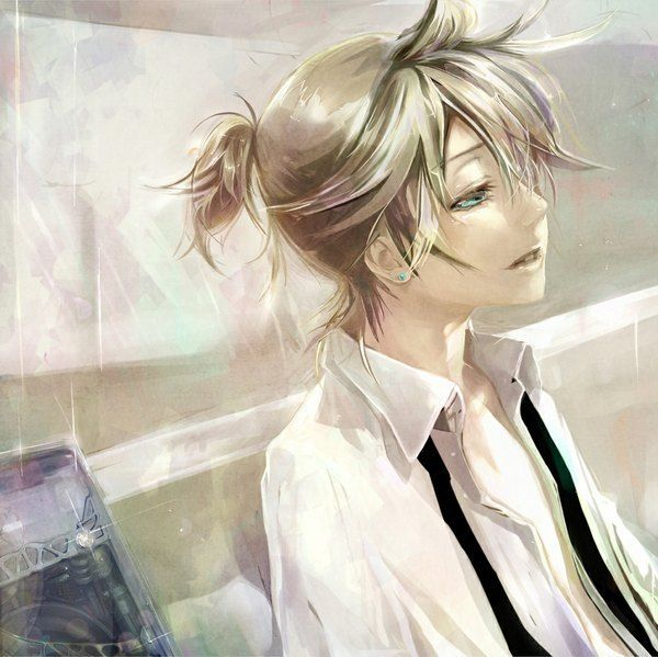 Pin By Mg On Pretty Artwork People Anime Ponytail Anime Boy Hair Vocaloid