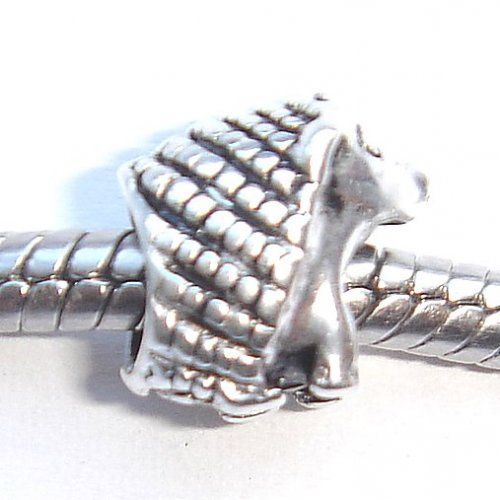 Hedgehog silver bead.