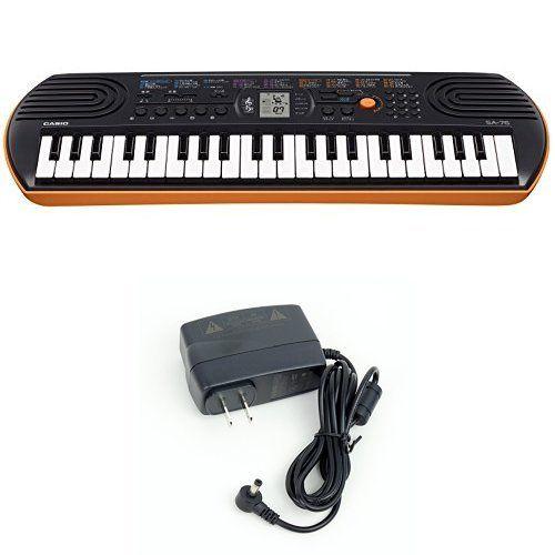 Casio SA76 44 Keys 100 Tones Keyboard bundle with Casio