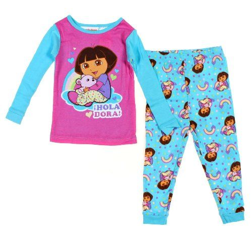 NWT Girls PJs Pajama set 2T NEW Dora The Explorer Christmas blue